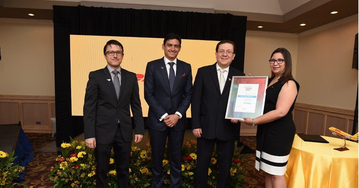 DHL obtiene reconocimiento esencial Costa Rica