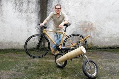 Bambú y cabuya en dos ruedas