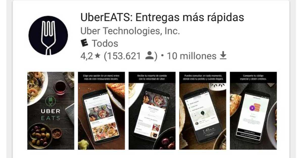 Uber habilita para descarga su plataforma para ordenar comida