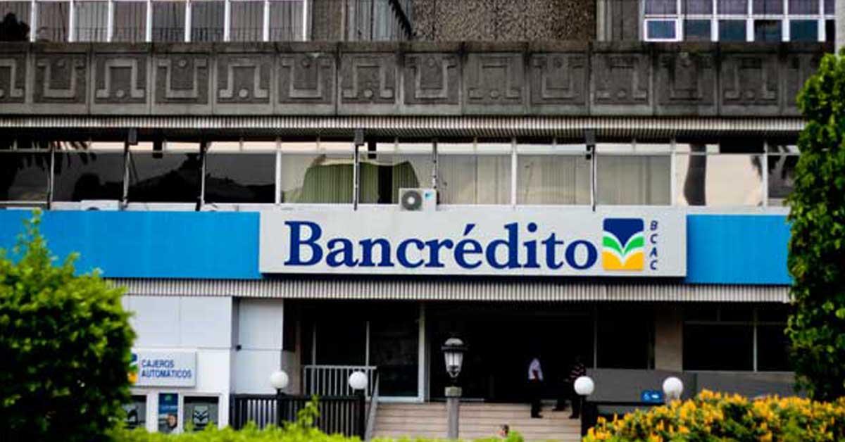 Bancrédito cancelará de forma anticipada certificados a plazos en dólares