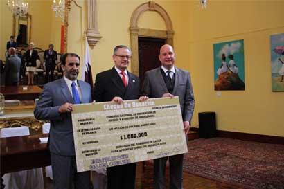 Catar dona $1 millón al país para atender afectaciones por Nate y Otto