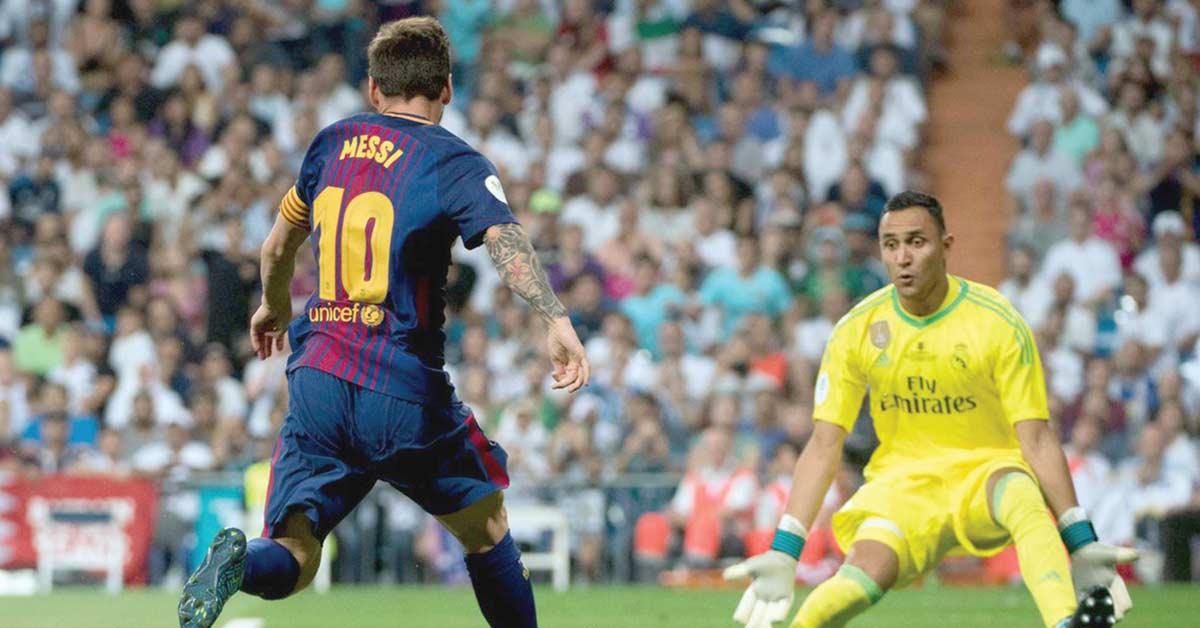 Keylor Navas ante la ofensiva más endemoniada en Clásico español
