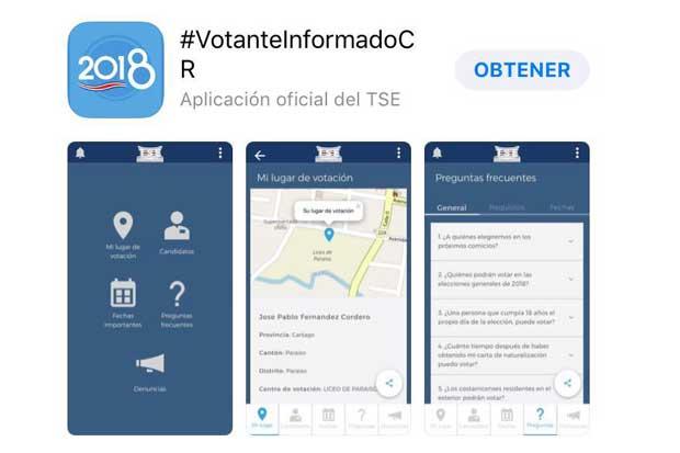 TSE lanza app #VotanteInformadoCR