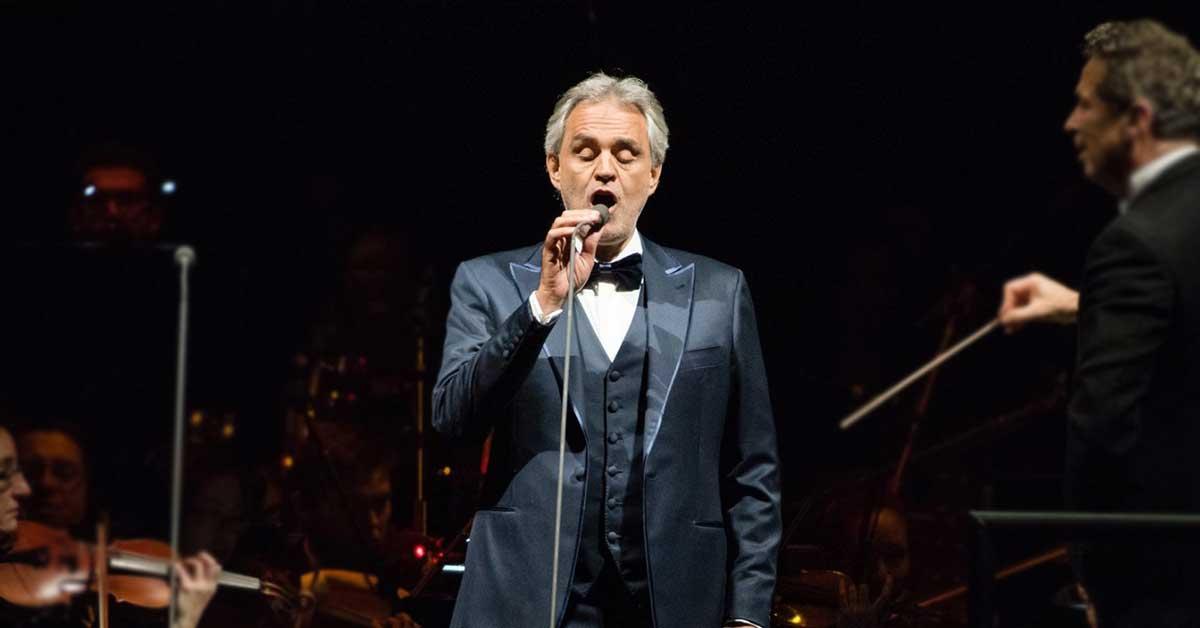 Andrea Bocelli cantará a los ticos en febrero próximo