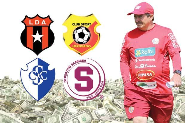 Clubes ticos recibirán al menos ¢120 millones por cada jugador que vaya al Mundial