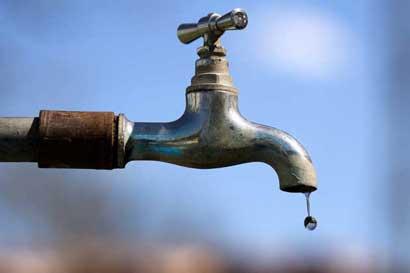Cinco cantones estarán sin agua a partir de esta mañana