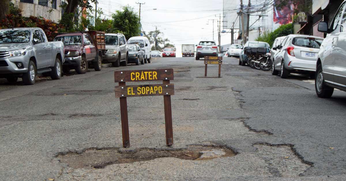 Iniciativa nombra huecos para concientizar problemática en carreteras