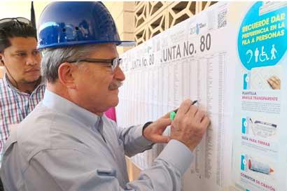 Juan Diego Castro fue el último candidato en votar