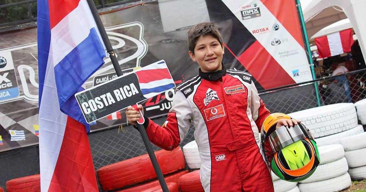 """Kartista multicampeón tico: """"Sueño con ser piloto de Fórmula 1 para Ferrari"""""""