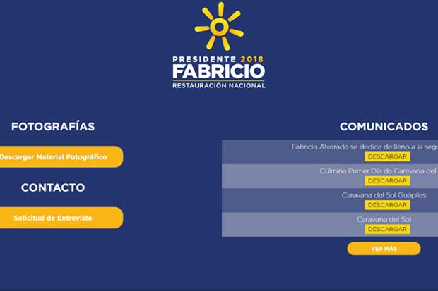 Equipo de Fabricio Alvarado rectifica posición sobre consultas de la prensa