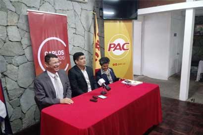 Óscar López se reúne con candidato del PAC para buscar impulso a sus proyectos