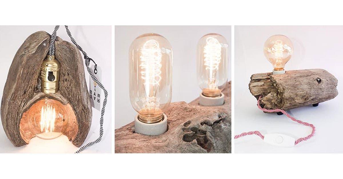 Emprendedores crean lámparas con productos naturales