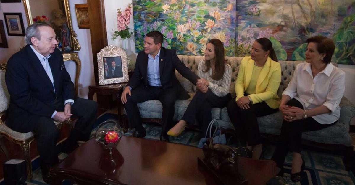 Expresidente Calderón transmitió a Fabricio Alvarado acciones para lidiar con crisis fiscal