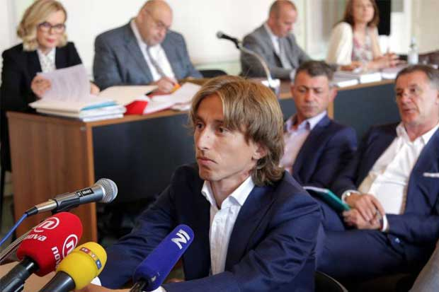 Luka Modric acusado de falso testimonio en Croacia