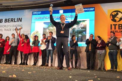 País gana premio internacional en feria de turismo