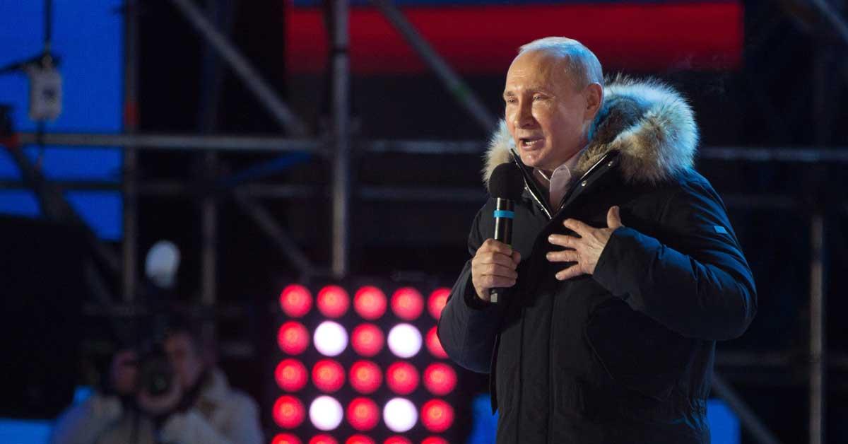 Putin gana las elecciones rusas con 76% de los votos
