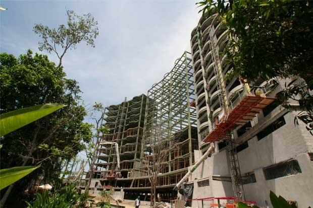 Construcciones cayeron un 12% en 2017
