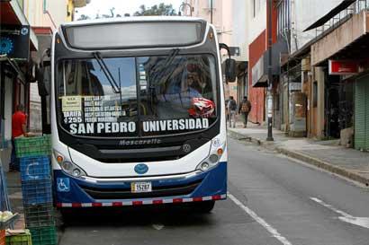 Servicio de buses no se puede suspender en Semana Santa
