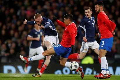 Costa Rica derrotó a Escocia con gol de Marco Ureña