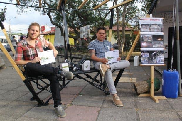 """Estudiantes de la """"U"""" Creativa aportan obras arquitectónicas al parque de Tibás"""