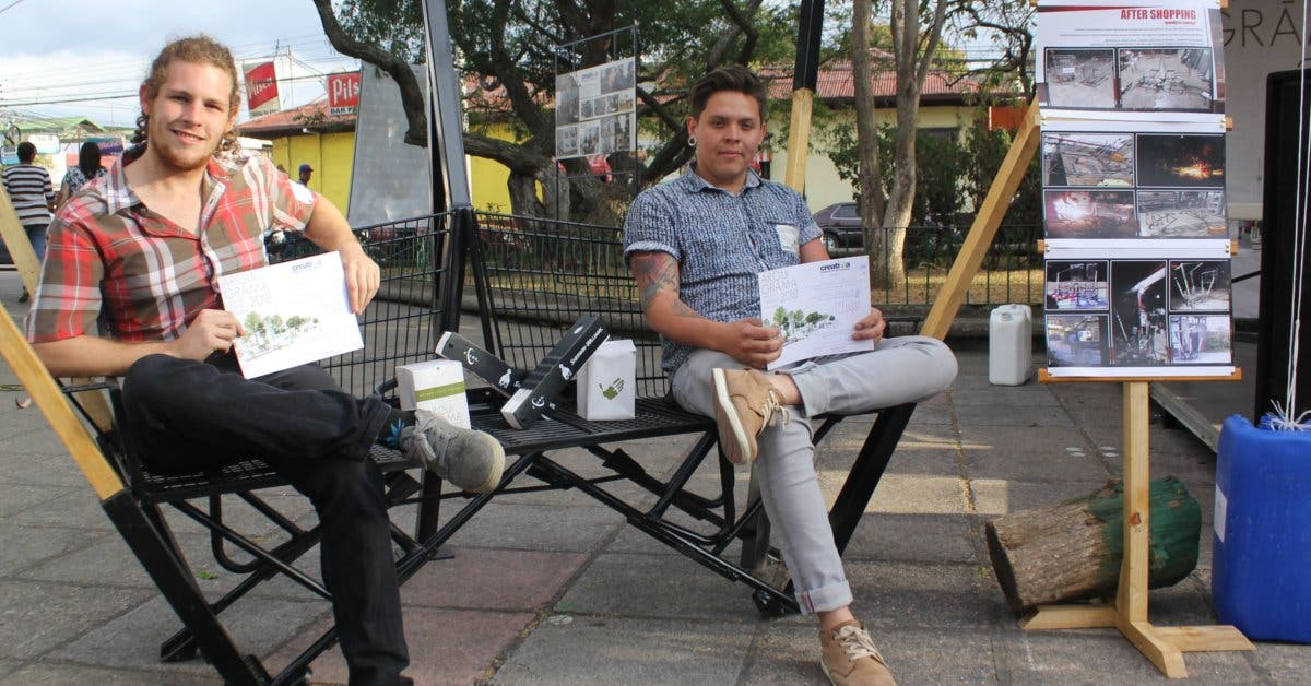 Estudiantes de la U Creativa aportan obras arquitectónicas al parque de Tibás