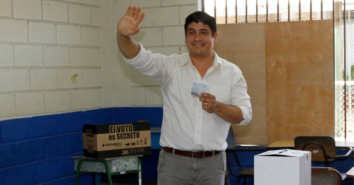 Con más de 1 millón de votos Carlos Alvarado es el nuevo presidente de Costa Rica