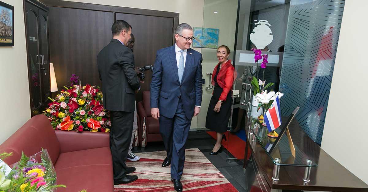 Costa Rica inaugura su primera embajada en África