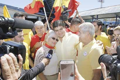Carlos Alvarado gastó la mitad que sus rivales en publicidad