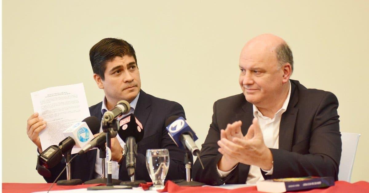 Carlos Alvarado ve en Rodolfo Piza un posible ministro de la presidencia