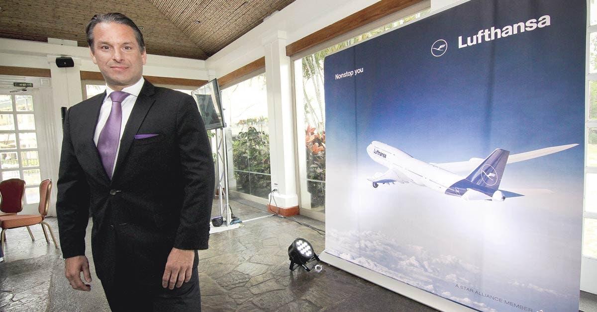 """Vicepresidente de Ventas de la aerolínea: """"Cada oficina de Lufthansa en Europa está vendiendo a Costa Rica como destino"""""""