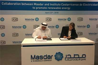 Costa Rica y Emiratos Árabes cooperarán en proyectos de energía renovables