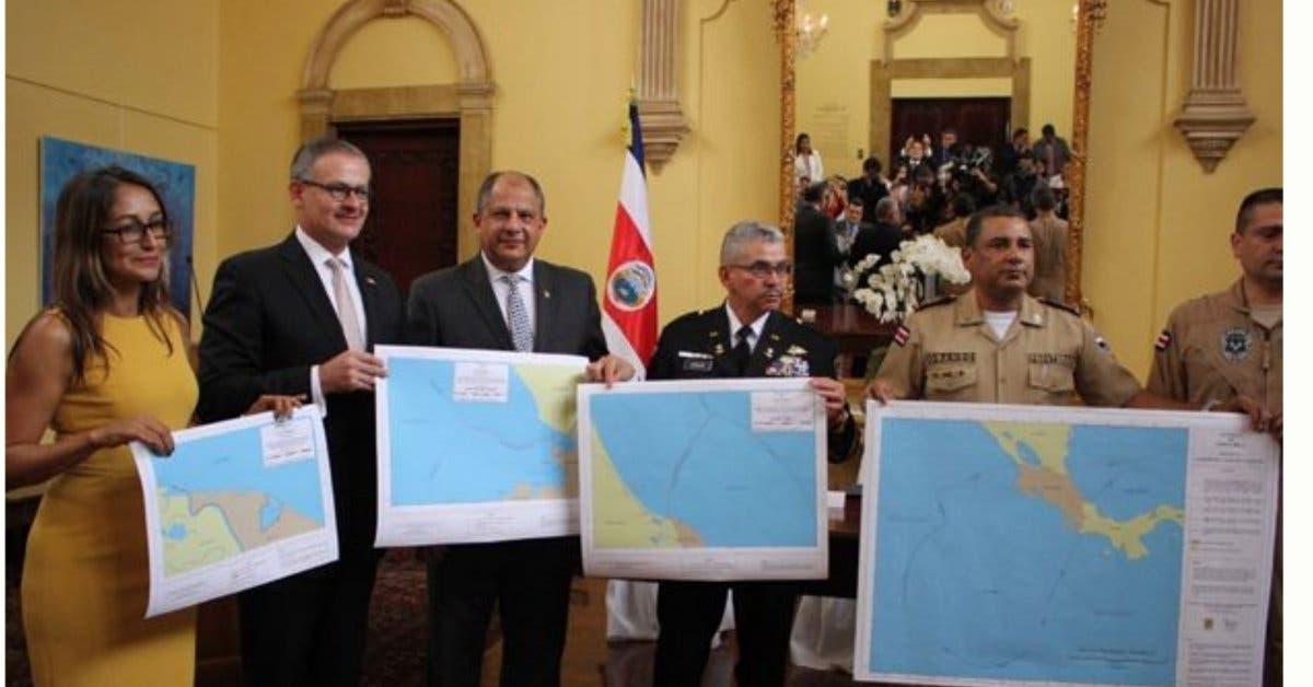 Costa Rica da a conocer nuevo mapa marítimo