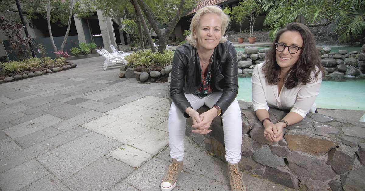 Kristin Hansen and Marion Couturier from ELLA International Lesbian Festival