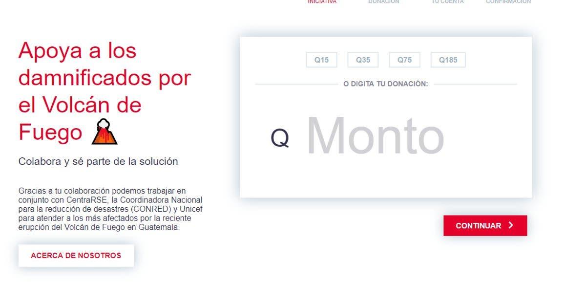¿Quiere ayudar a damnificados de Guatemala? Banco habilitó plataforma