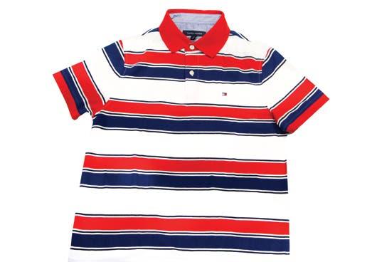 camisa rayas rojas, blancas y azules