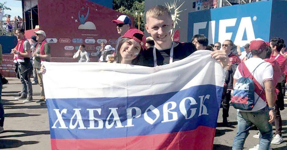 Vasilii Kozyrev y su esposa Anastasia Kozyreva