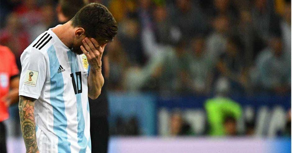 Messi frustrado por perder 3-0
