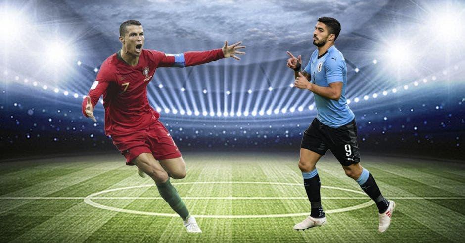 Cristiano Ronaldo y Luis Suarez