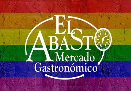 La marca del restaurante con los colores de la bandera gay