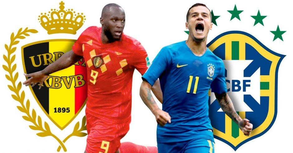 Romelu Lukaku y Phillipe Coutinho son los principales referentes en ataque de Brasil y Bélgica.