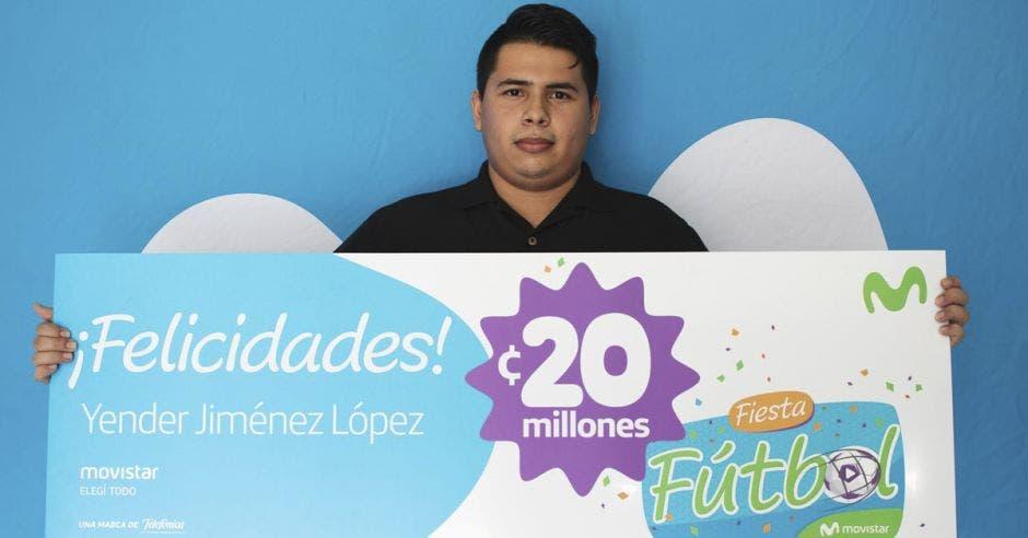 Vecino de Quepos se ganó ¢20 millones en Fiesta Fútbol de Movistar