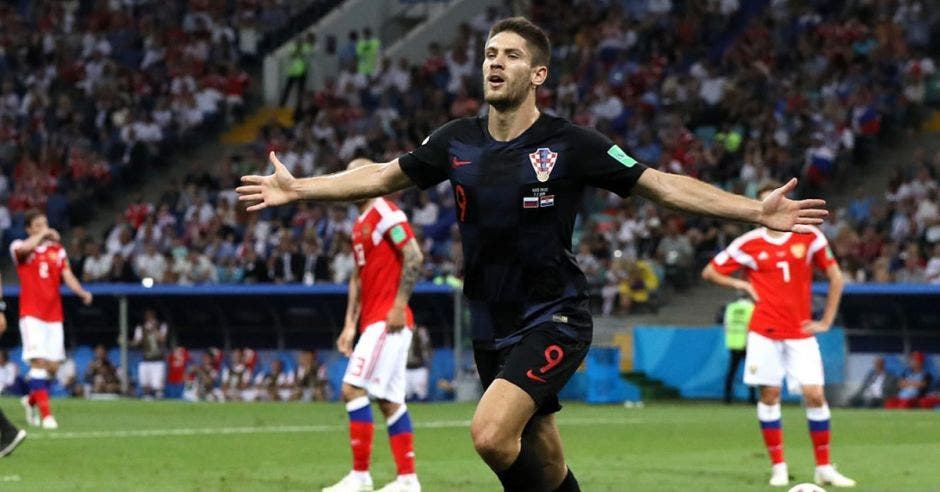 Croatas celebran victoria ante Rusia