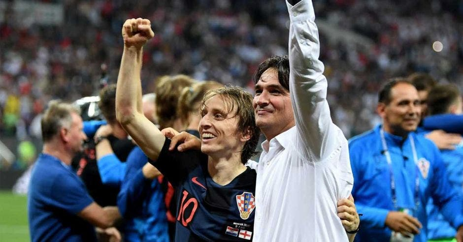 Luka Modric y Zlatko Dalic celebaron el pase de Croacia a la final