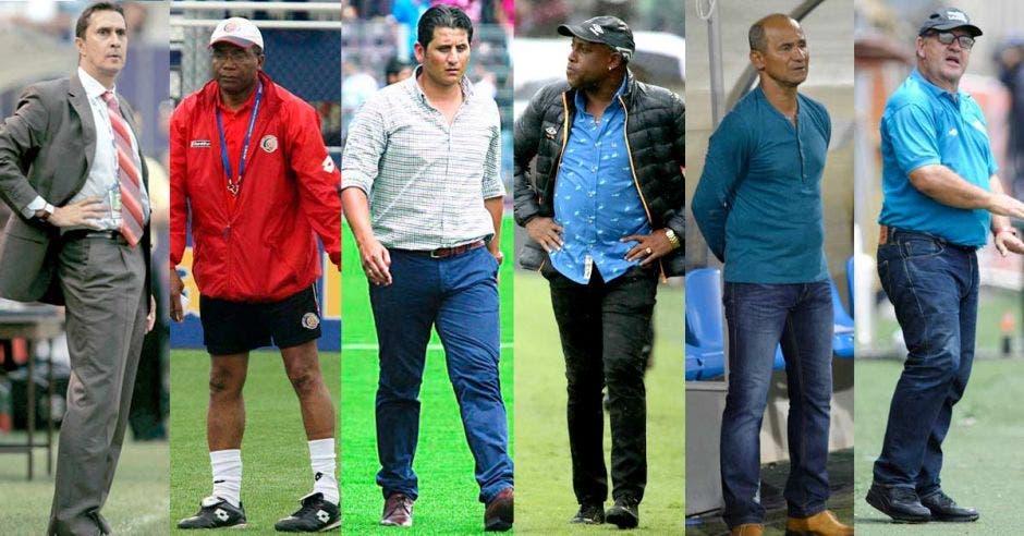 Alexandre Guimaraes, Rodrigo Kenton, Rónald González, Hernán Medford, Henry Duarte y Johnny Chaves.
