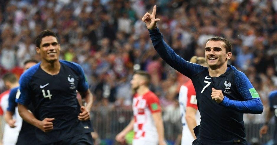Antoine Griezmann anotó el segundo gol de los galos en la final de la Copa del Mundo.