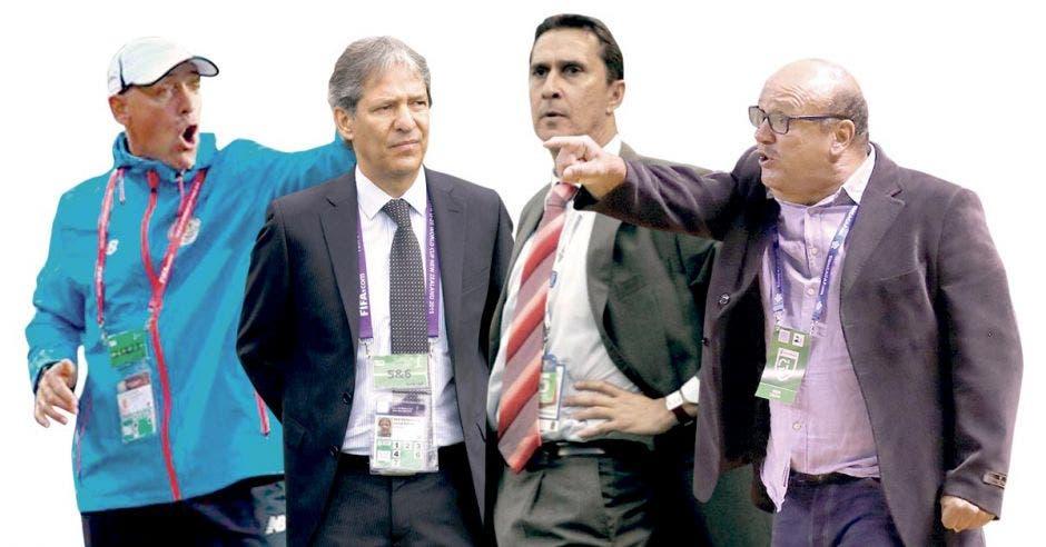 Marcelo Herrera, Carlos Restrepo, Alexandre Guimaraes y Johnny Chaves son candidatos a dirigir la Selección.