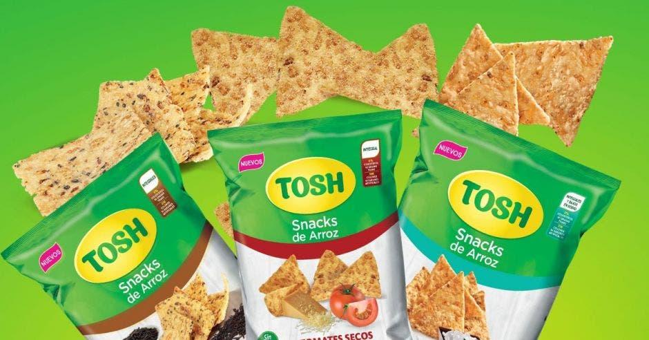 Tosh ingresa al mercado de snacks saludables con tres nuevos productos
