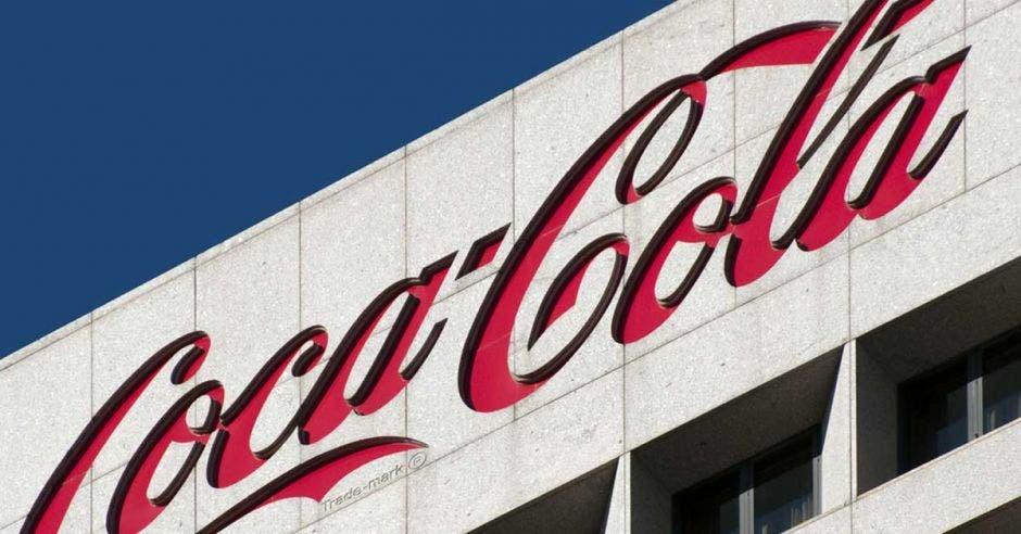 Logo de Coca-Cola en color rojo
