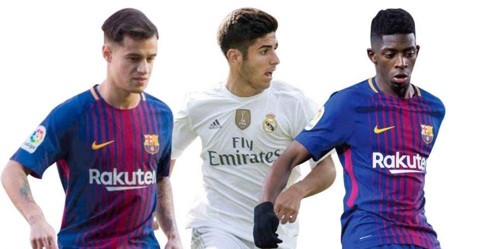 Dembélé, Coutinho y Asensio son los llamados a figurar en la liga española tras la salida de Ronaldo e Iniesta. Archivo/La República