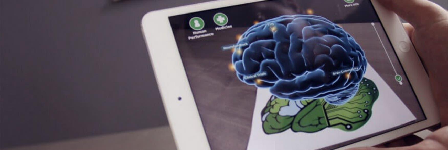 tablet con cerebro